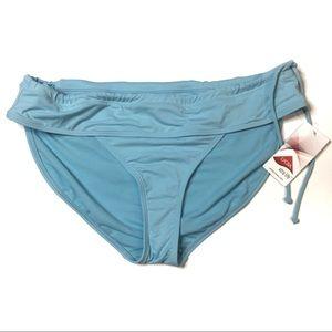 Athleta blue side tie bikini bottom